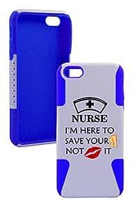 IPhone 5/5s Nurse Plastic & Silicone Case - (Dark blue)