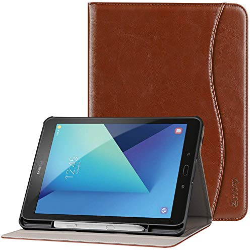 Ztotop Premium Leather Case for Samsung Galaxy Tab S3 9.7-Inch 2017 (SM-T820/T825), Full Body Protective Folio Stand Cover Case for Galaxy Tab S3 with Auto Sleep/Wake, S-Pen Holder, Brown