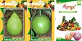 Shopmeeko SEED Bottle Gourd (Lattu Ghiya) and Round Bottle Gourd Seed + Humic (For Growth of All and Better Responce) 15 gm Humic + Pack of 50 Seed Bottle Gourd (Lattu Ghiya) + 50 Seed Round Bottle Gourd) Seed Seed (100 per packet)