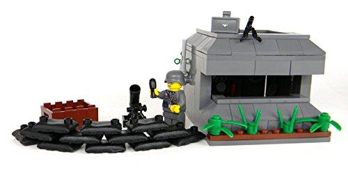 German WW2 Bunker - Battle Brick Custom Set (Lego Wwii Weapons)