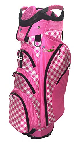 - Birdie Babe Checkered Past Pink Gingham Ladies Golf Cart Bag