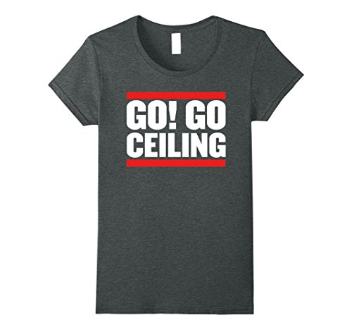 Womens LET'S GO CEILING T-Shirt Small Dark Heather - Go Ceiling Fan Costume