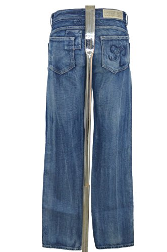 IKKS JEANS FEMME STRETCH - COUPE DROITE REGULAR - JEAN BLEU STONE USED - TAILLE 34 36 38 NEUF