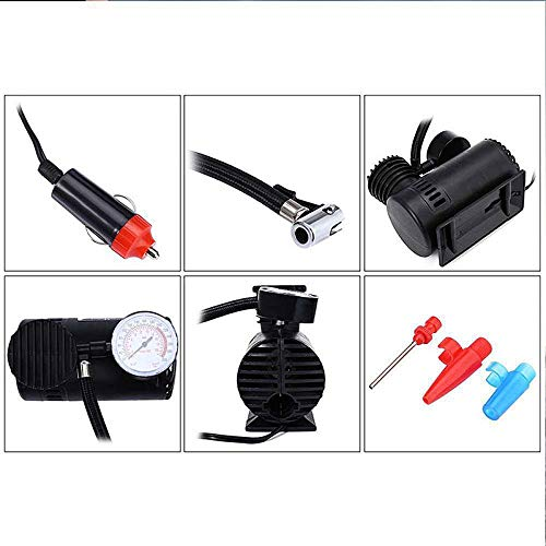 300PSI 12V Car Tire Inflator Electric Tire Pump with 3 Nozzles for Car Bicycle Basketball Air Boat and Other Air Compressor Pump