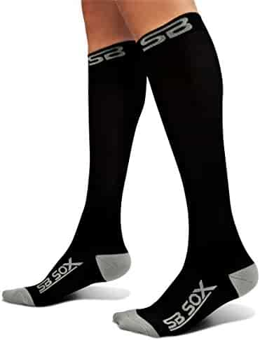 SB SOX Compression Socks (20-30mmHg) for Men & Women - BEST Stockings for Running, Medical, Athletic, Edema, Diabetic, Varicose Veins, Travel, Pregnancy, Shin Splints.