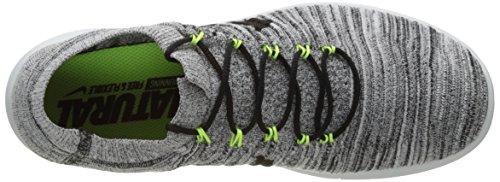 Nike Mens Movimento Rn Libero Flyknit Scarpe Bianco / Nero-volt-off Bianche In Esecuzione