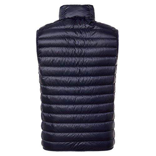 Ultra Marina Yiiquan Maniche Stand Blu Piumino Zipper Cappotto Giacche Leggero Del Collar Gilet Senza Uomo wq0YOw