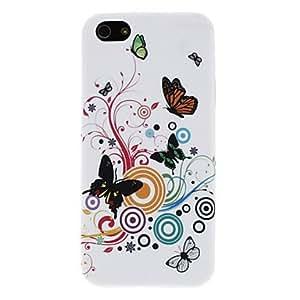 Conseguir Patrón de negro mariposa TPU caso suave protector para el iphone 5/5s
