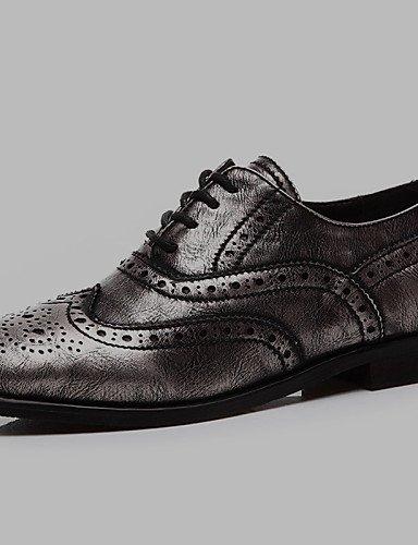 Zapatos eu39 Comfort Tacones Negro us7 de 2016 gray black Robusto Trabajo us8 eu39 us8 Tacones Oficina Fiesta Noche y Gris ZQ mujer cn39 uk6 y uk6 Tacón cn38 Casual 5 uk5 Sintético gray 5 eu38 F50qq