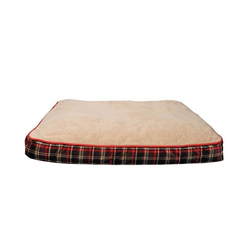 Dogit colchonetas Scottish XL, 71x 91cm, Beige/Red, Beige and Red by Dogit