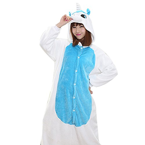 Unisex Adult Halloween Unicorn Cosplay Costume, Attractive Animal Onesie Designs Pajamas (Creature Hoodie Costumes)