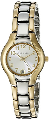 Anne Klein Women's 10-6777SVTT Two-Tone Dress Watch with an Easy to Read Dial (Dress Silver Tone Dial Two)