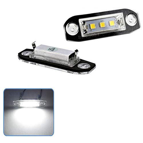 SODIAL 2 Piezas Led Luz De La Matr/íCula para Volvo S80 Xc90 S40 V60 Xc60 S60 C70 V50 Xc70 V70