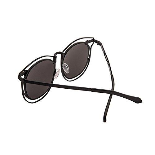 La Redonda Retro Cara De Redonda Gafas Sol De De La Grandes Negro Plata Gafas Sol Caja LIZHIQIANG Polarizador La De De Color Moda Personalidad Marea Marea UfvpqXxwW