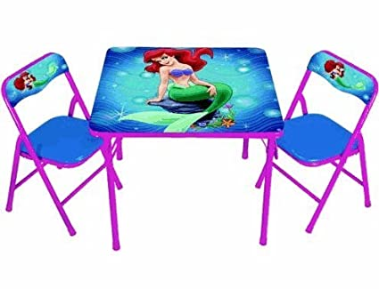Amazon.com: Little Mermaid Activity Table Set: Kitchen & Dining
