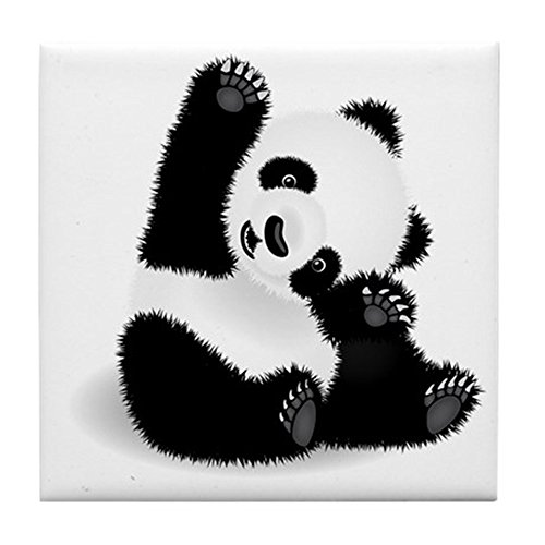 CafePress - Baby Panda - Tile Coaster, Drink Coaster, Small - Coaster Tile Baby