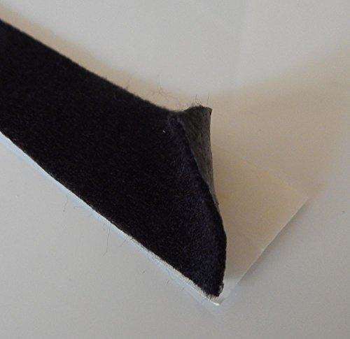 [해외]접착제에 의하여 역행 되는 까만 펠트 테이프-50 Ft 긴 롤 116 \\ / Adhesive Backed Black Felt Tape - 50 Ft Long Roll 116 Thick and 1 Wide