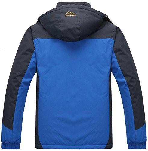 Sportwear Snow Fleece Coat Mountain Jacket Sapphire Hooded Fishing Camping Windbreaker Jacket Hunting Ski Outdoor Waterproof Mochoose Men's Rain Working Blue 0qwFvFR