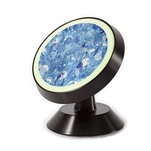 (Magnetic Dashboard Cell Phone Car Mount Holder,Up of Various Fashion Diamonds Crystal Sea Digital,can be Adjusted 360 Degrees to Rotate,Phone Holder Compatible All Smartphones)