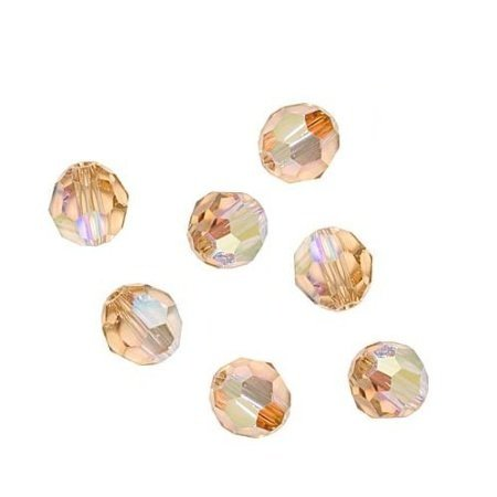 Swarovski Crystal #5000 5mm Round Beads Light Colorado Topaz AB (12)