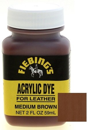- Fiebings Acrylic Dye For Smooth Leather Water Resistant Quick Dry Medium Brown
