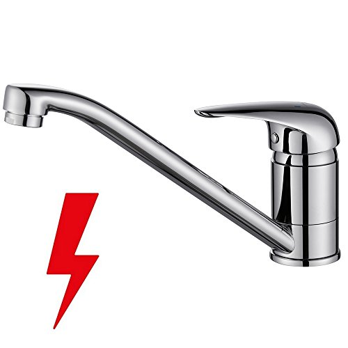 Homelody® Chrom Wasserhahn Niederdruck Armatur Wasserkran Einhebelmischer Waschbecken Waschtischarmatur Spüle Waschbeckenarmatur Spültischarmatur