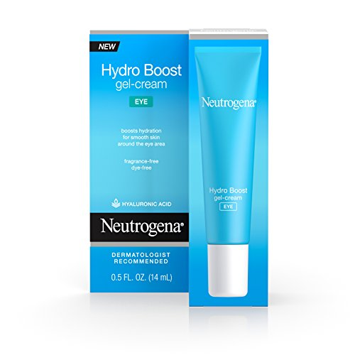 Neutrogena Hydro Boost Hydrating Gel Eye Cream with Hyaluronic Acid, Dermatologist Recommended, Oil and Fragrance Free, 0.5 fl. oz