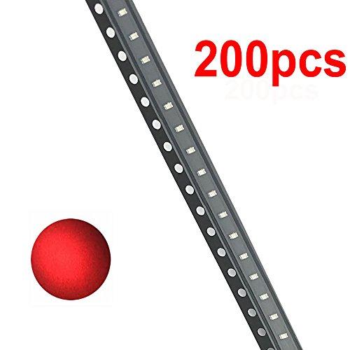 McIgIcM 0603 SMD Led Light Red Assortments,200pcs Light Red Diode Grade Quality SMD Led Diodes Assorted High Power Light