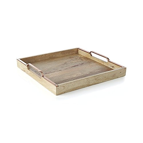 Amazon.com: Madhu s Collection bandeja de madera una ...