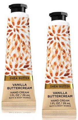 (Bath and Body Works 2 Pack Vanilla Buttercream Hand Cream with Shea Butter. 1 Oz.)