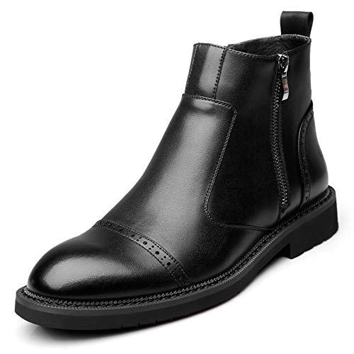 da Stivali Casual Business Vera Pelle Shoes Uomo Stivaletti Inghilterra Martin in Black Chukka Stivali Bullock agxwnTdqfn