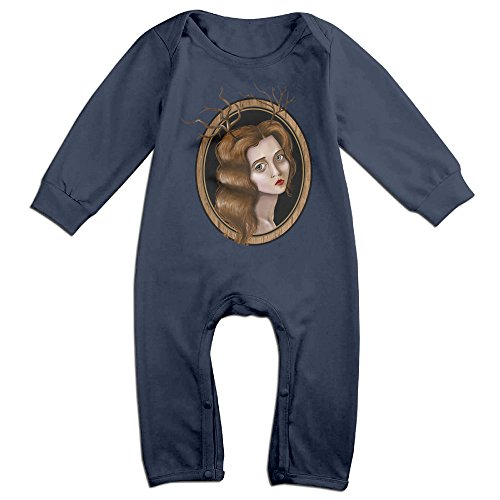 [Mmo-J Newborn Babys Lady Deer Long Sleeve Romper Bodysuit Outfits Navy Size 18 Months] (Baby Golfer Costume)