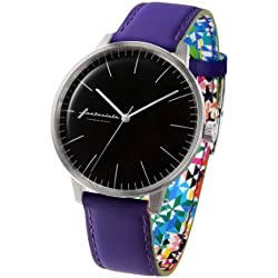 ZERONE Crossover Fantasista Utamaro Black Purple Analogue Watch