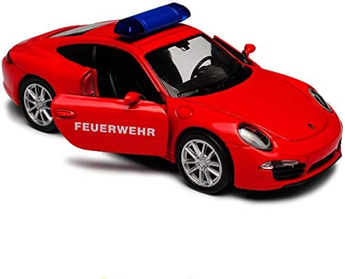 Porsche 911 991 Carrera S Coupe Rot Feuerwehr Ab 2011 ca 1//43 1//36-1//46 Welly Mo