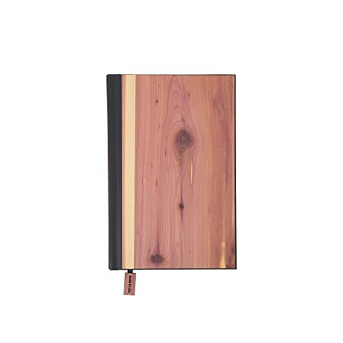 WOODCHUCK Wooden Pocket Journal (Cedar) with Lined Pages, Handmade in the USA – 100% Recycled FSC Certified Paper