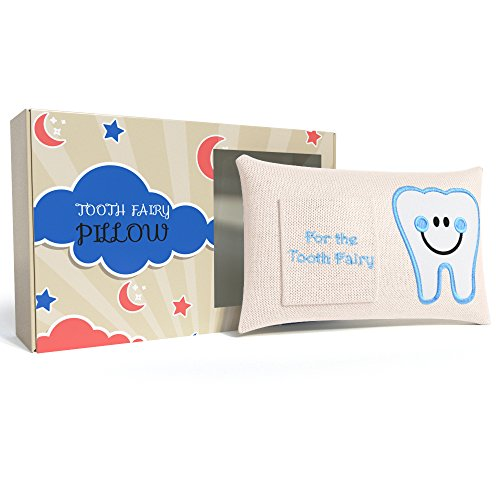 CHERISHED KID Tooth Fairy Pillow Kit for Boys with Pouch and Letter Note – Keepsake Box Makes it a Great Gift Idea for Kids by E-Com Highway (Image #8)