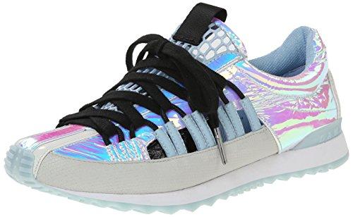 L.A.M.B. Women's Bennie Fashion Sneaker, Pink/Light Grey, 9 M US