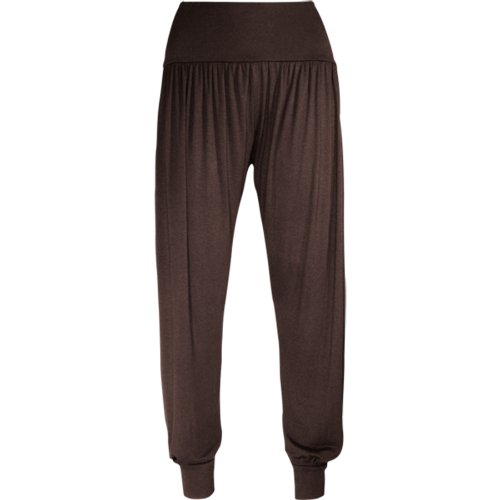 Fashion Wardrobe Womens Ali-baba Legging Ladies Full Length Baggy Hareem Trouser Pant 8 10 12 14 (USA 10-12 / UK 12-14 (M/L), Chocolate Brown)