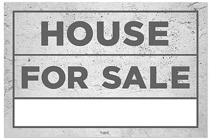 CGSignLab 18x12 Basic Gray Window Cling 5-Pack House for Sale
