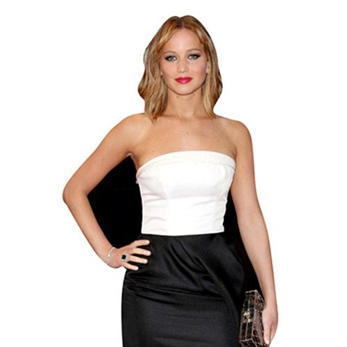 Jennifer Lawrence Life Size Cardboard Cutout Real Stand Up, Free UK delivery by Celebrity Cutouts by Celebrity Cutouts