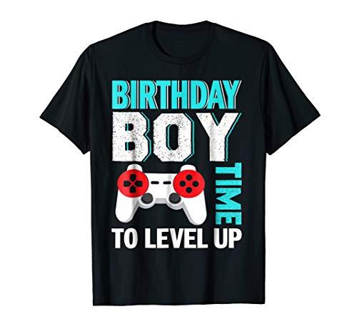 Birthday Boy Video Game Birthday Party T-Shirt Birthday Party Favor T-shirt