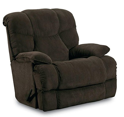 Zero Gravity Glass (Lane Furniture Luck 41398P 4169-22 Pad-over-chaise Rocker Recliner with 73-inch Recline ZERO GRAVITY Mechanism and Comfort-cradle Scoop Seating in Brown)
