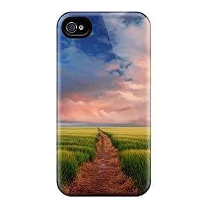 AmacaAcc Iphone 4/4s Hybrid Tpu Case Cover Silicon Bumper A Road To Somewhere