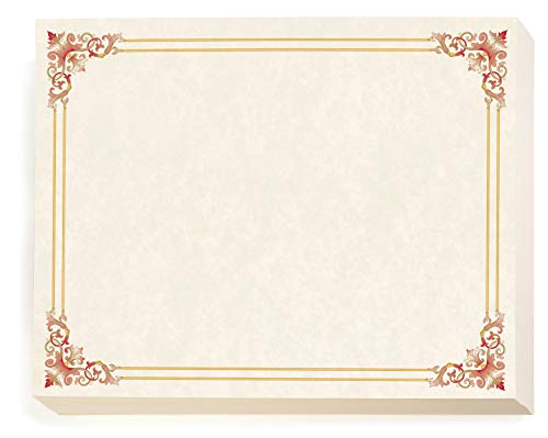 Red and Gold Accents on Renaissance Standard Certificates, 8½ x 11, 100 Count