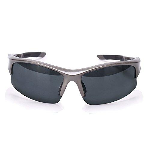 Unisex Polarized Sports Sunglasses for Men Womens Eyewears Running Driving Fishing Golf Baseball Glasses - Sunglasses Grey