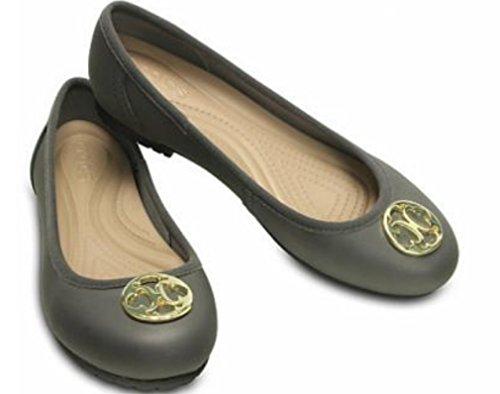 Disco Crocs Marin Colorlite Piatto W Damen Graphite / Gold W8.5 39 Eu