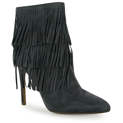 Steve Madden flapper stiletto stivali donna grigio moda donna calzature