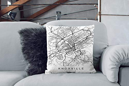 PopStore3943 Knoxville Map Print Knoxville TN Map Farmhouse Home Decor Knoxville Pillow Tennessee Pillow Throw Pillow Patriotic Decor (& Tn Decor Knoxville Floor)