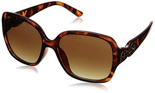 Adrienne Vittadini Women's AV1029 Square Sunglasses, Tortoise, 56 - Sunglasses Adrienne Vittadini