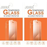 Johra Pack of 2 9H HD+ Real Tempered Glass Screen Scratch Guard Protector For Zen Admire Sxy